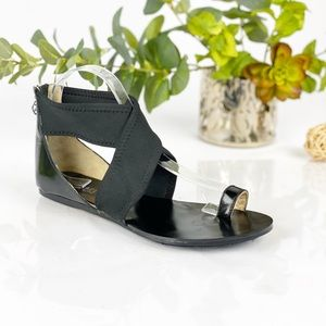 Michael Kors Black Toe Ring Strap Sandals Flats